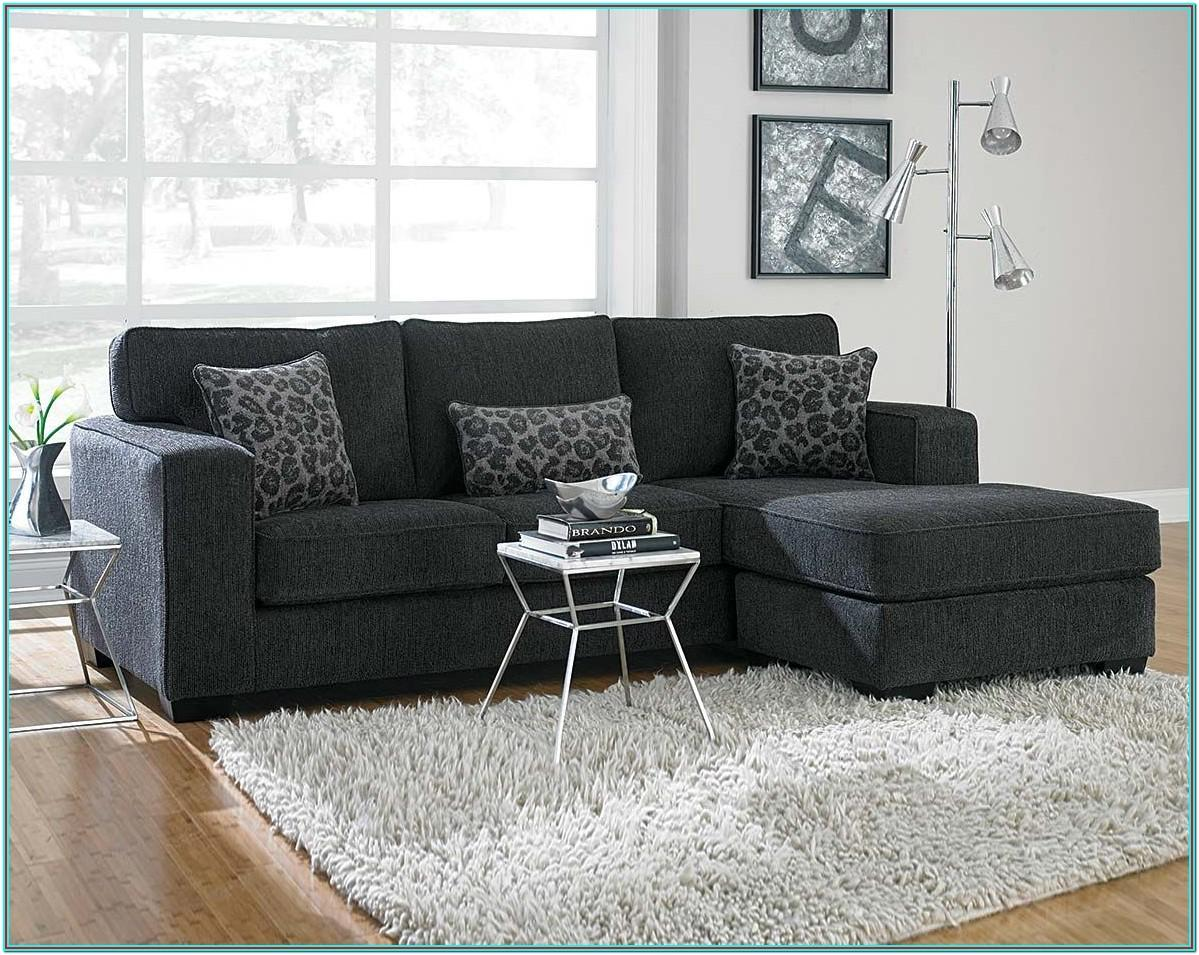 Living Room Charcoal Grey Sectional