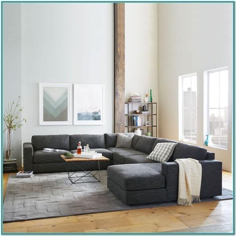 Living Room Charcoal Sofa Decor