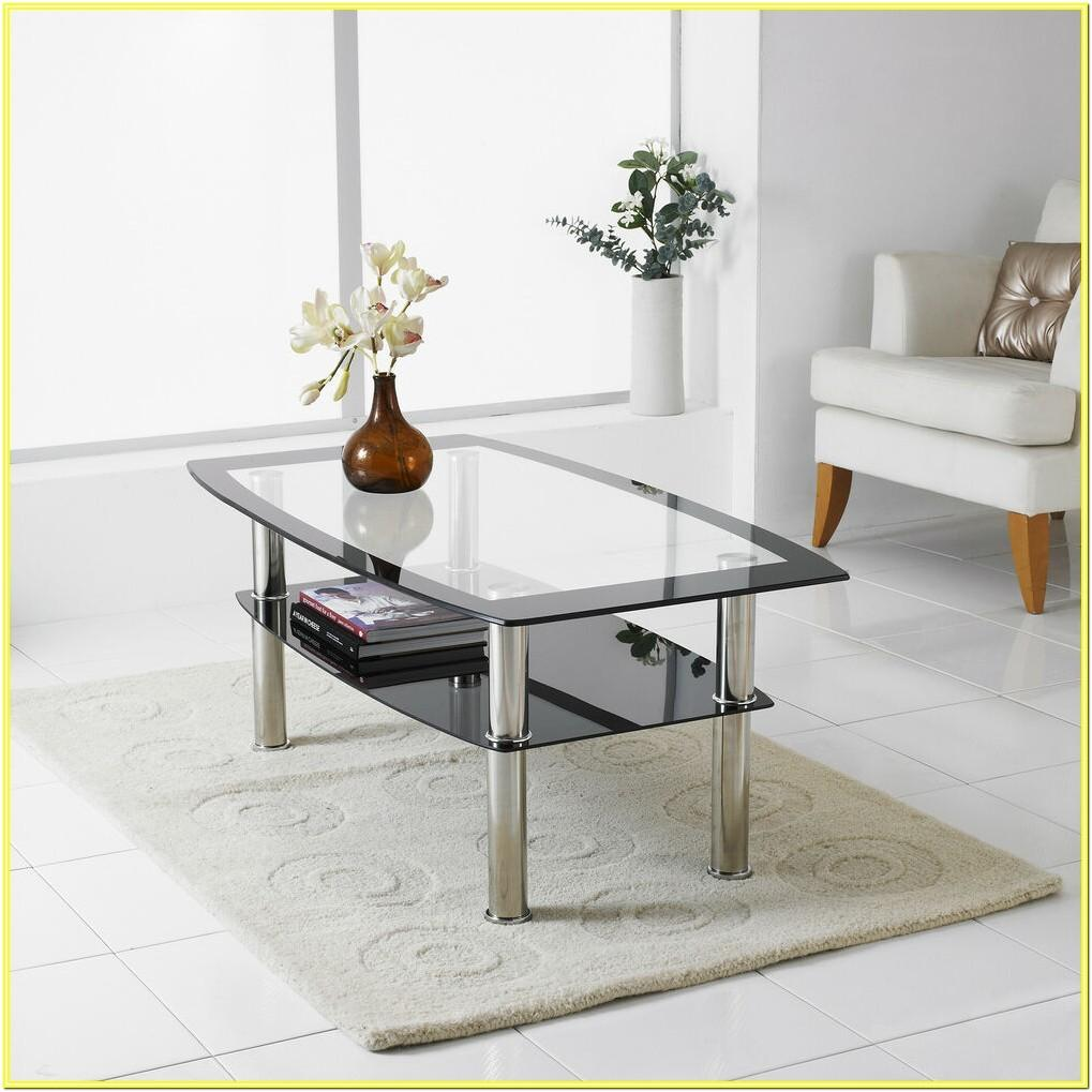 Living Room Clear Coffee Table