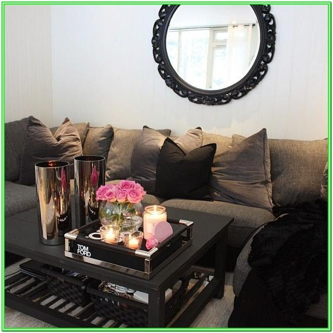 Living Room Coffee Table Candle Centerpiece