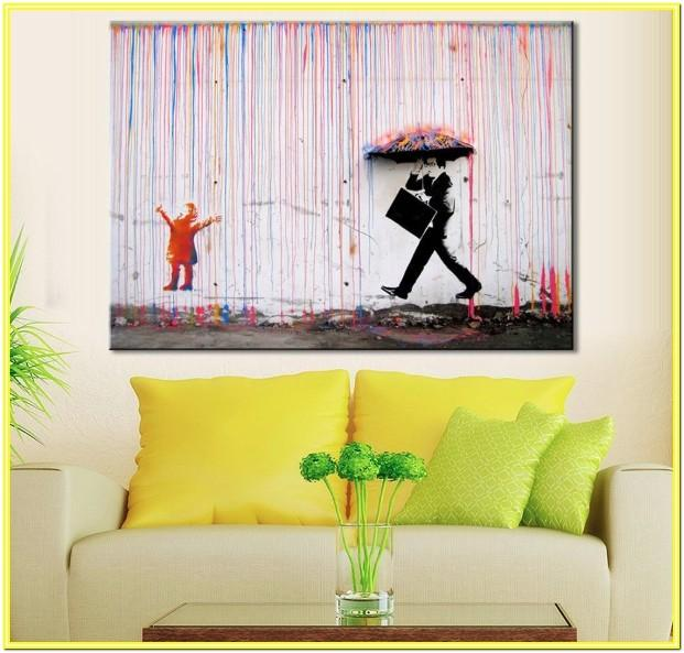 Living Room Colorful Abstract Wall Art