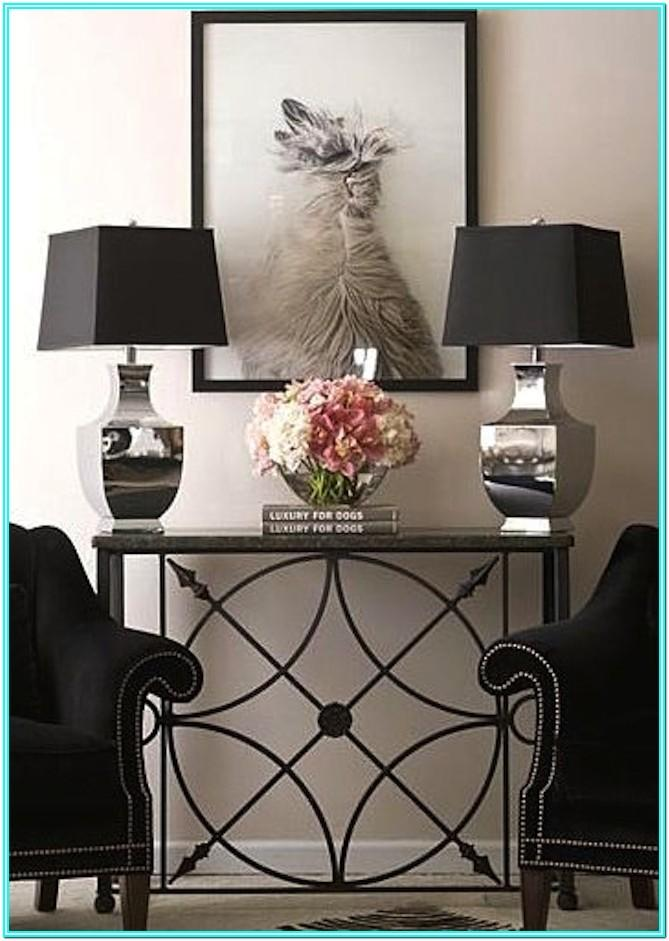 Living Room Console Table Decor Images
