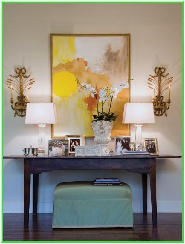 Living Room Console Table Decorating Ideas