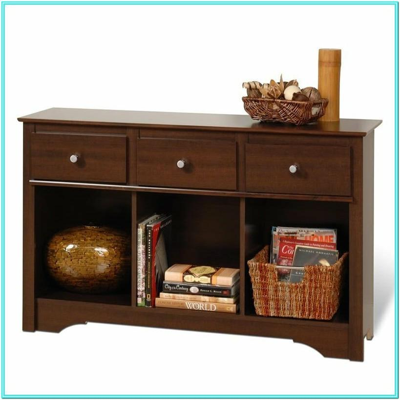 Living Room Console With Storage