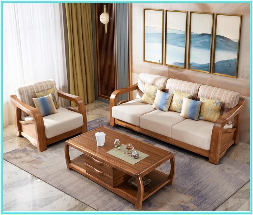 Living Room Corner Sofa Set Wooden
