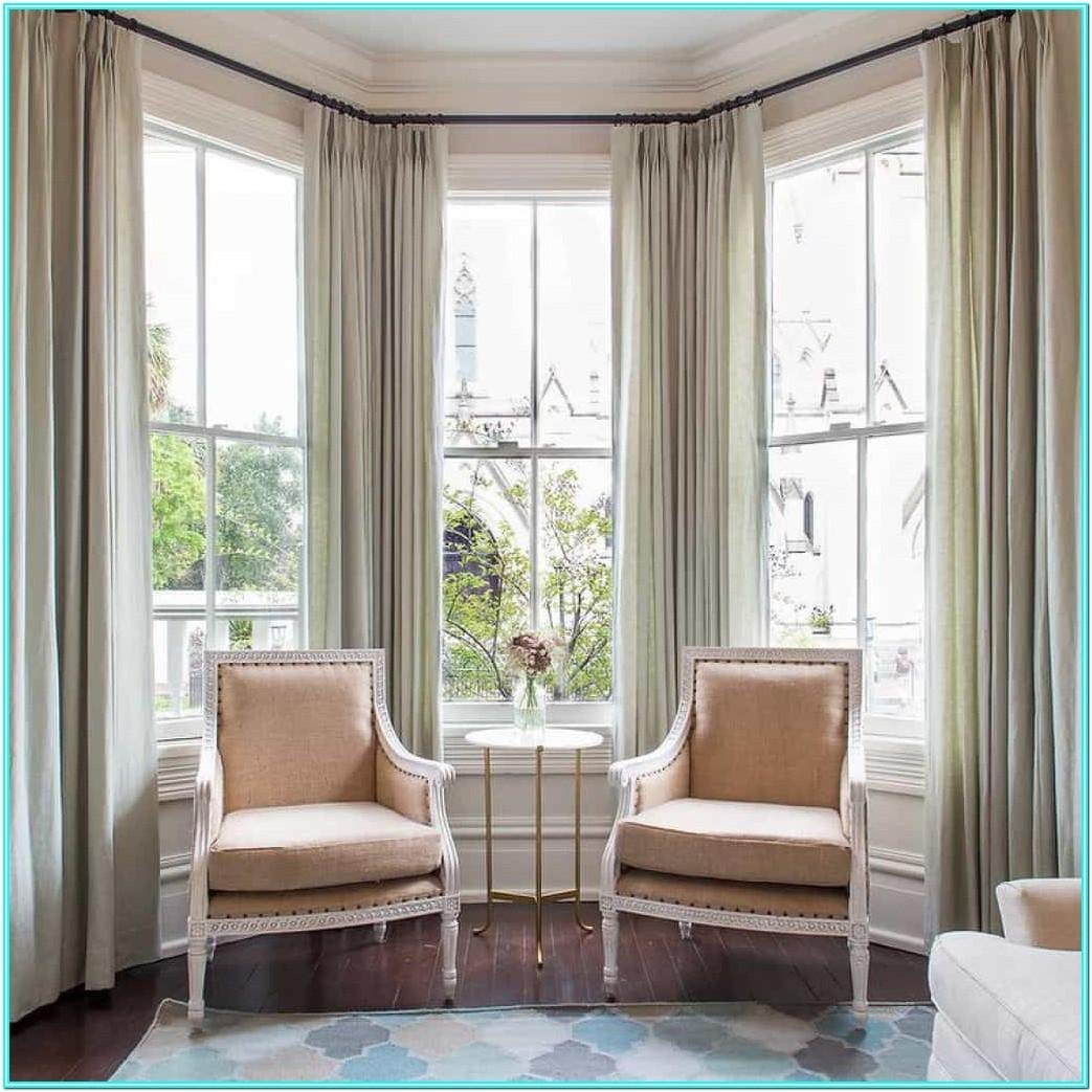 Living Room Curtains For Large Bay Windows