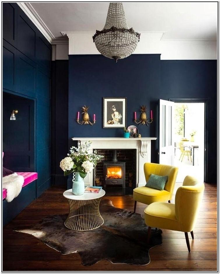 Living Room Dark Blue Paint Colors
