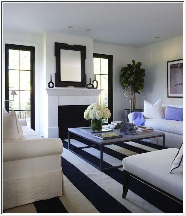 Living Room Dark Blue Rugs