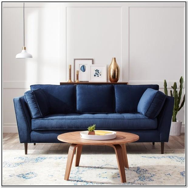Living Room Dark Blue Sofa Set