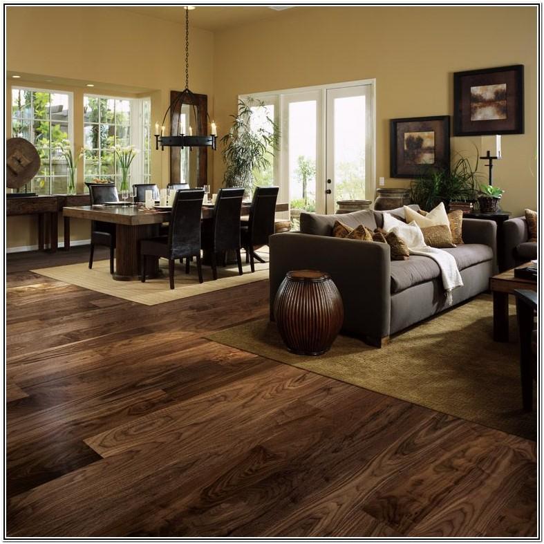 Living Room Dark Brown Laminate Flooring
