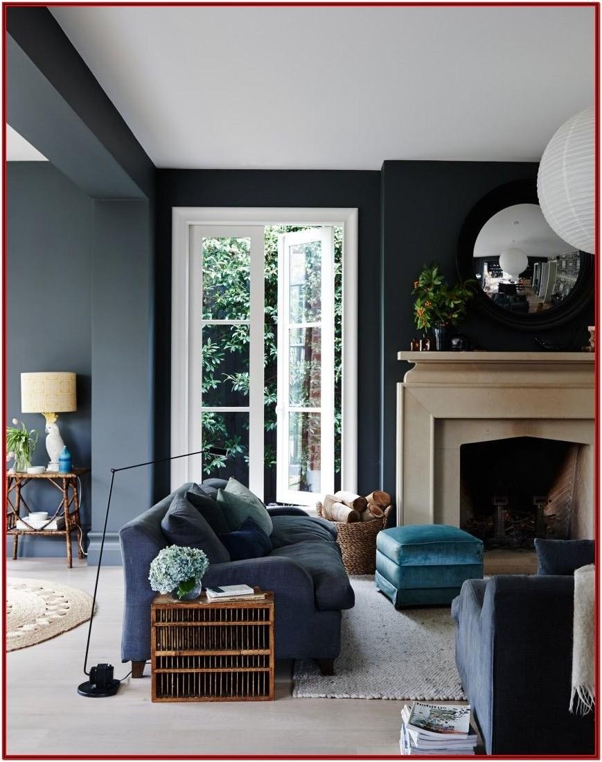 Living Room Dark Grey Wall Paint