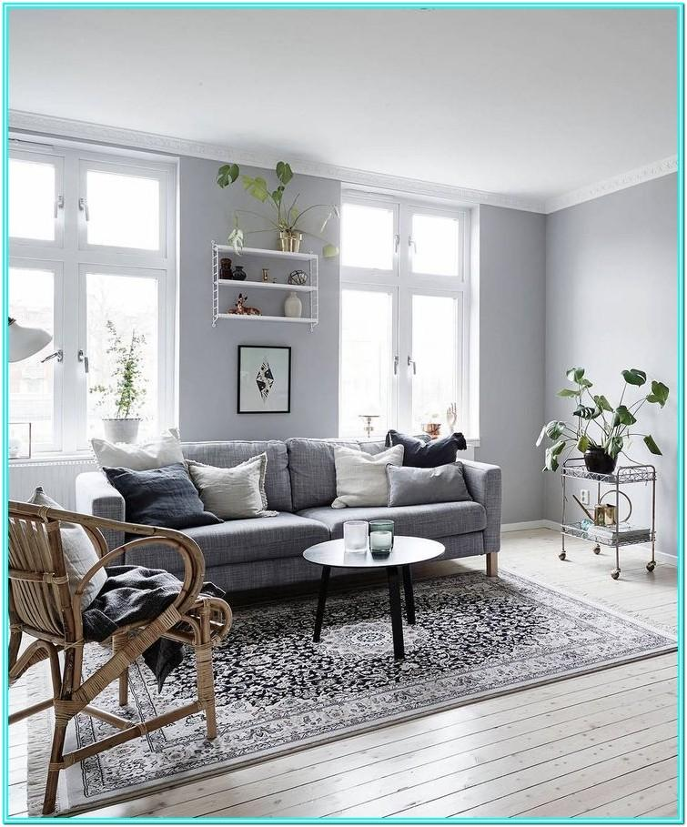 Living Room Decor With Gray Walls