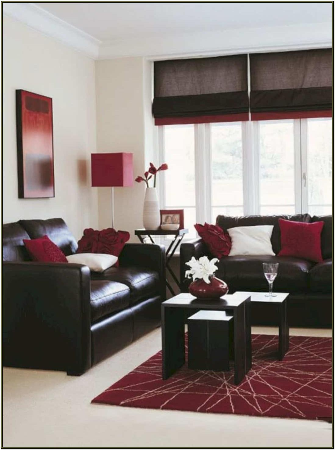 Living Room Decorating Ideas Red Black White