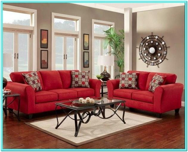 Living Room Design Ideas With Red Sofa