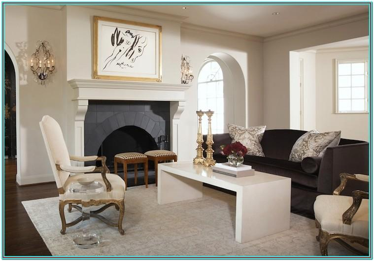 Living Room Design With Charcoal Sofa