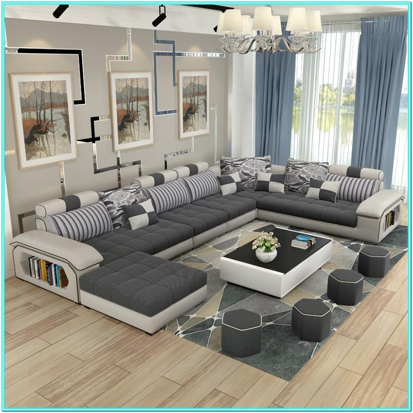 Living Room Design With Sectional Sofa