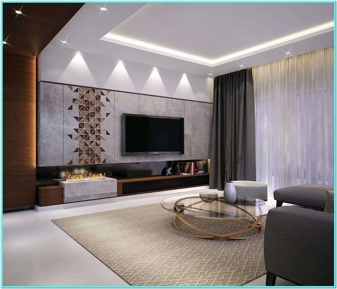 Living Room Divider Design For Tv And Speaker