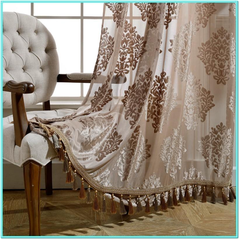 Living Room Door Curtains Designs