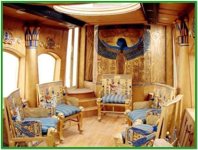Living Room Egyptian Home Decor