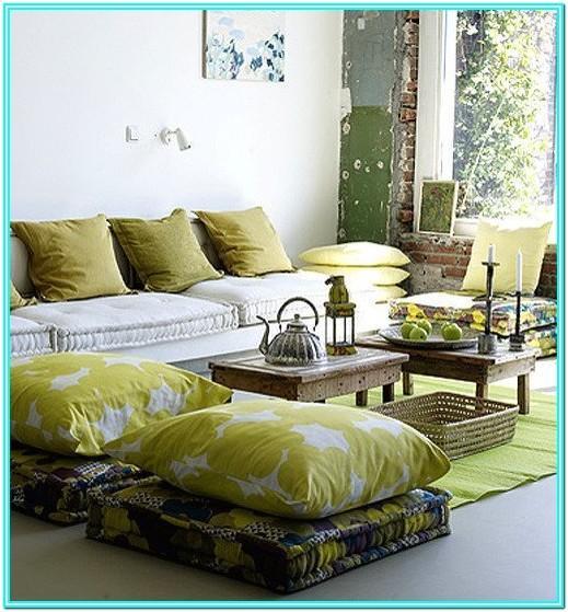 Living Room Floor Cushion Ideas