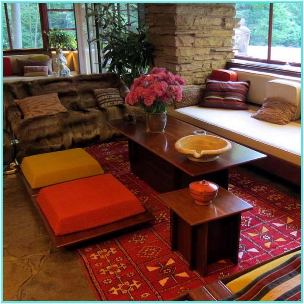 Living Room Floor Cushion Seating Ideas