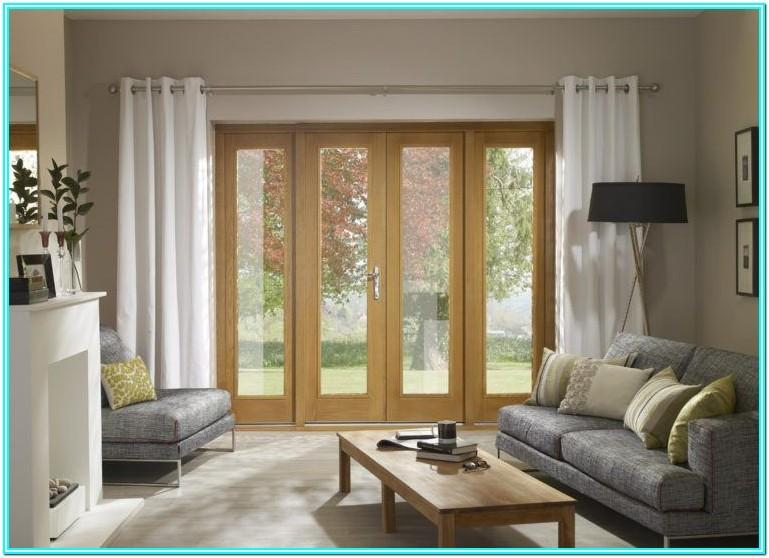 Living Room French Door Curtains