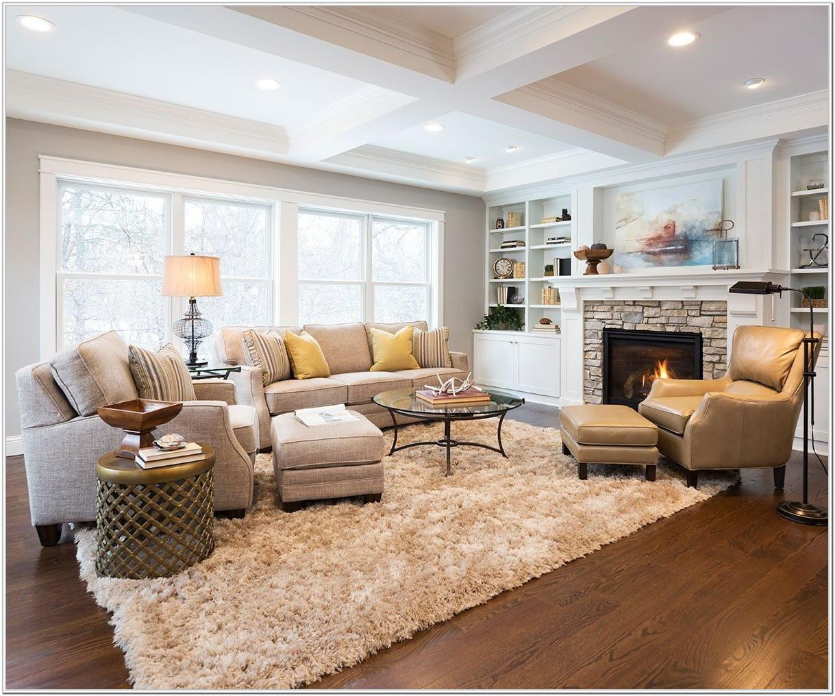 Living Room Furniture Arrangement Examples With Fireplace