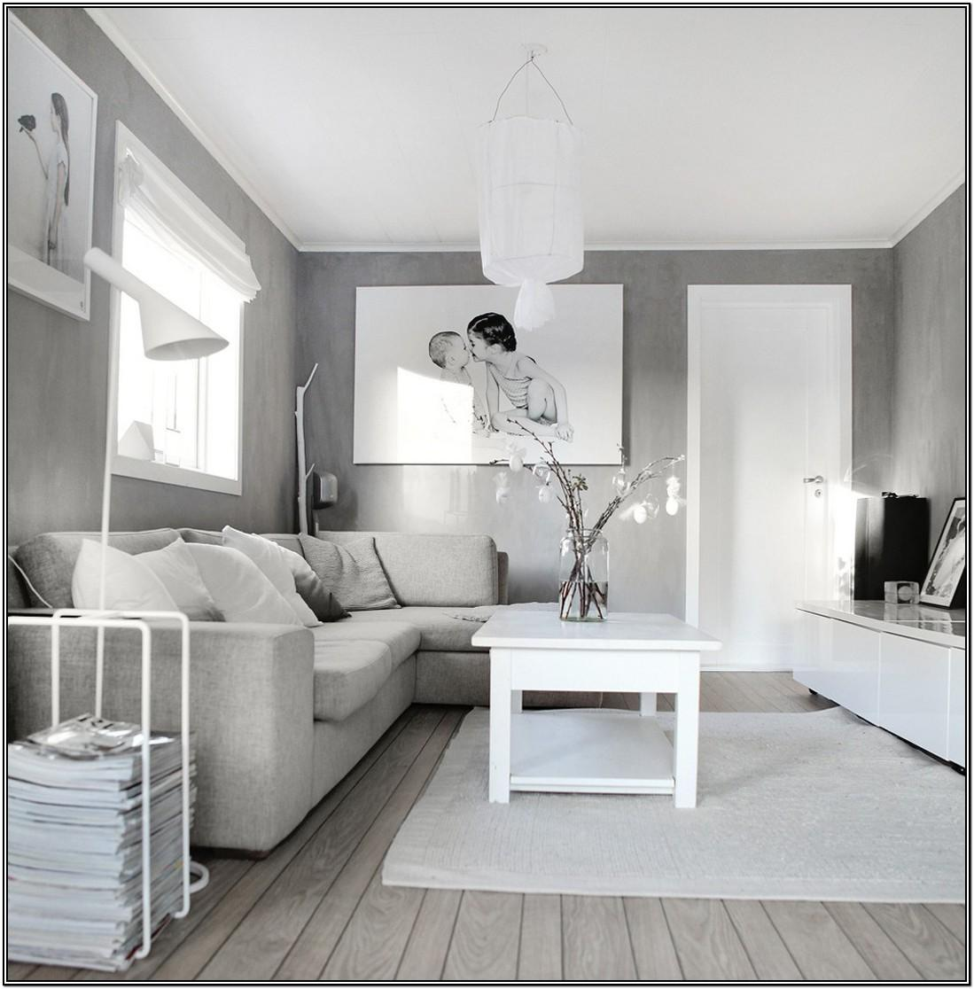 Living Room Gray Interior House Paint