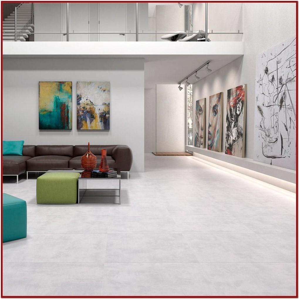 Living Room Grey Colour Floor Tiles