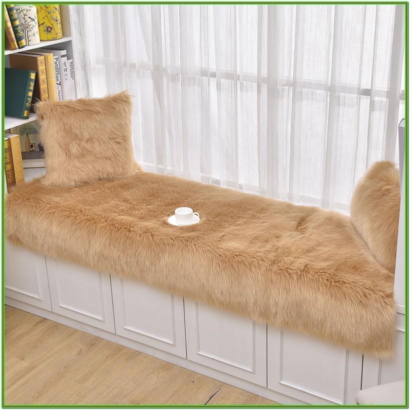 Living Room Grey Fur Rug