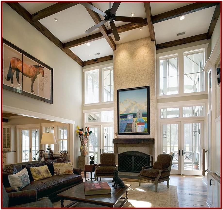 Living Room High Ceiling Lighting Design