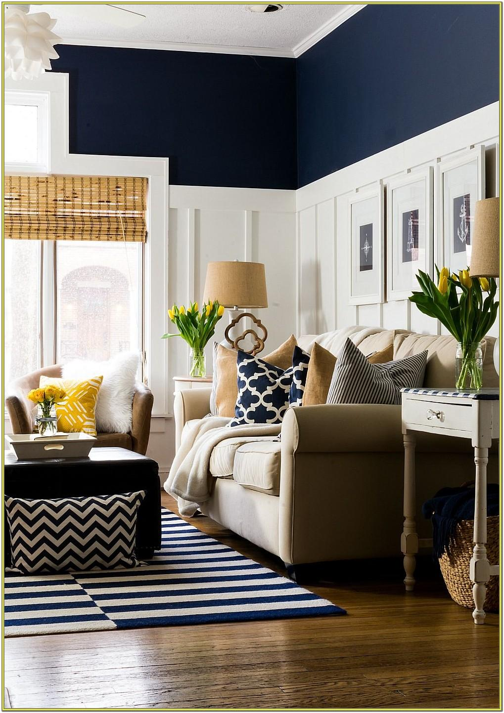 Living Room Ideas Navy Blue Accents