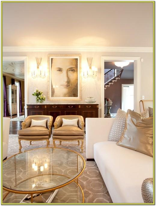 Living Room Ideas With Gold Accents