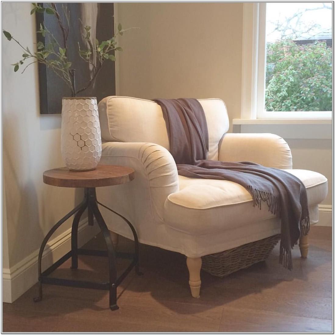 Living Room Ikea White Chair