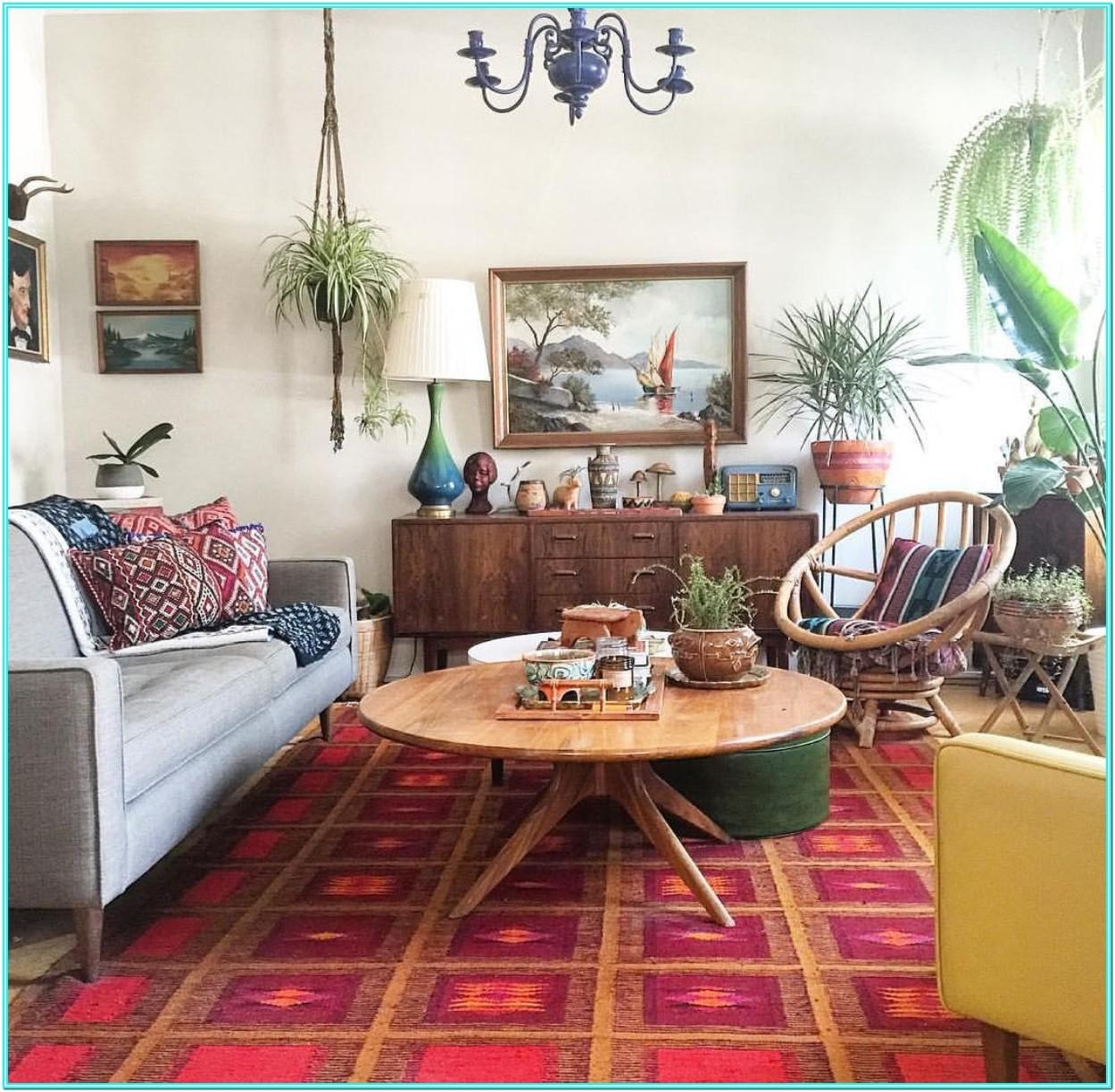 Living Room Interior Design With Plants