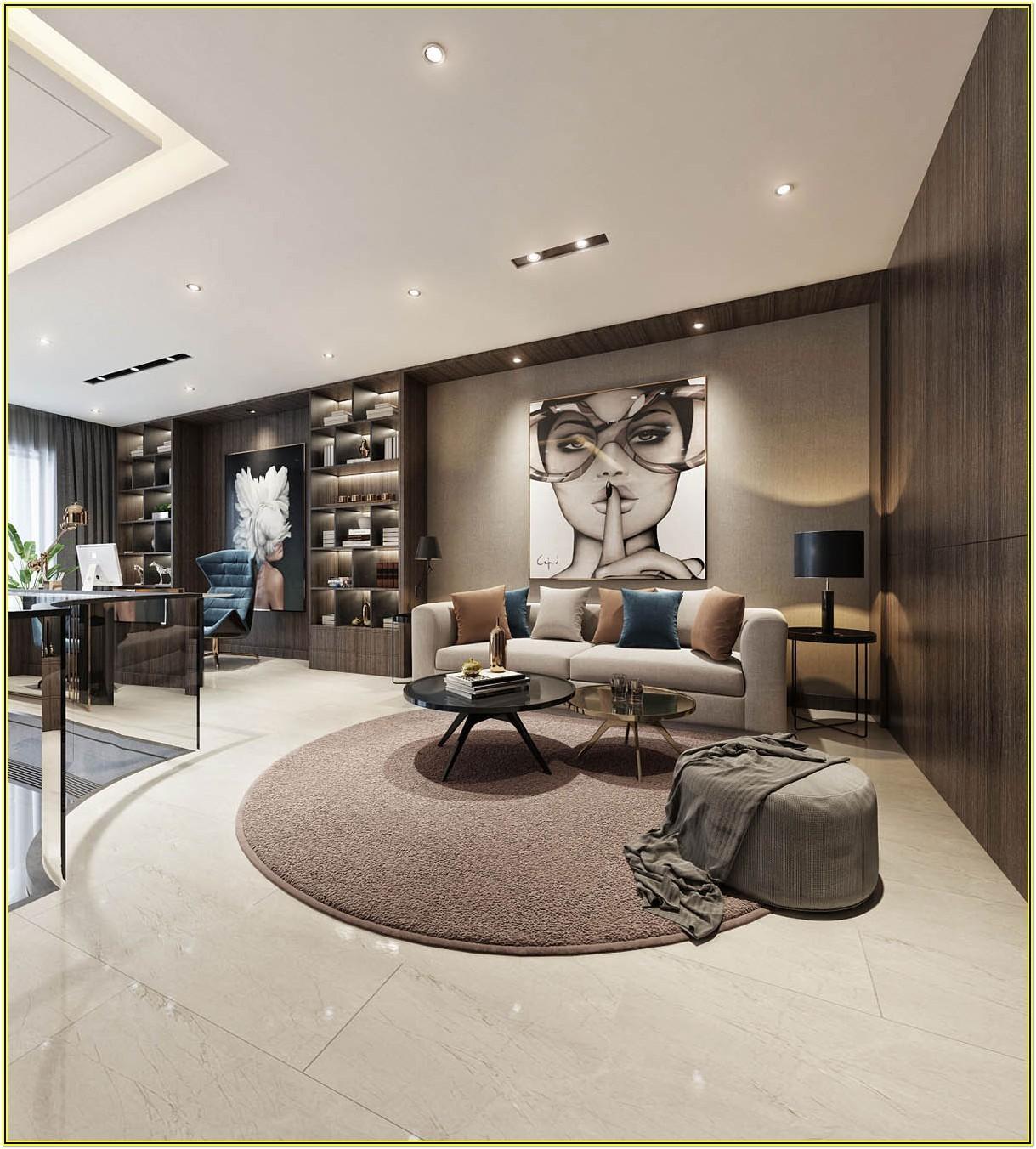 Living Room Luxury Contemporary Interior Design