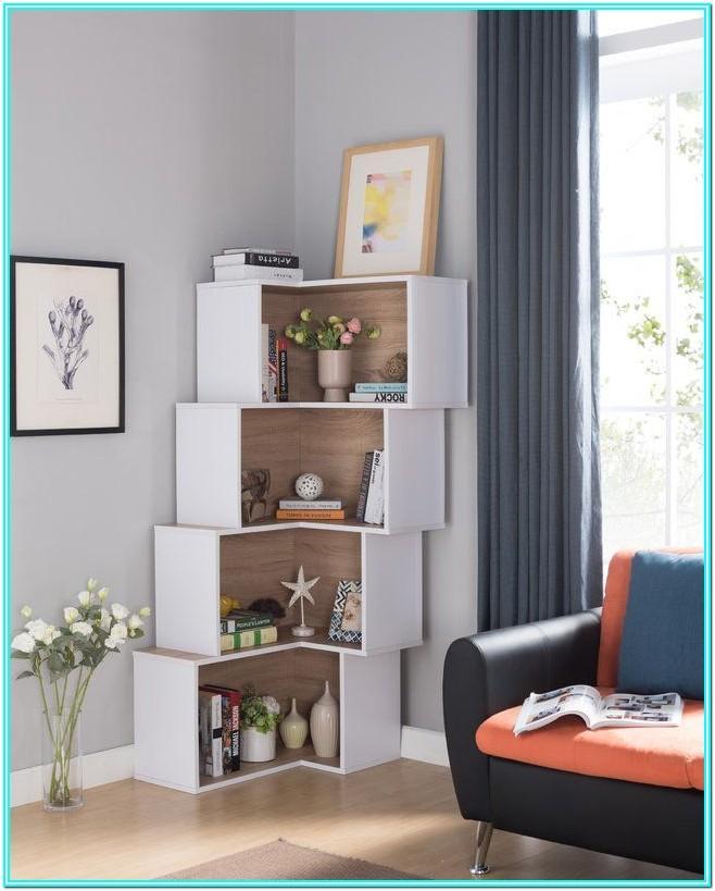 Living Room Modern Corner Bookshelf
