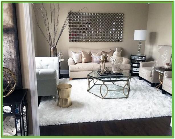 Living Room Modern Living Room Fur Rug