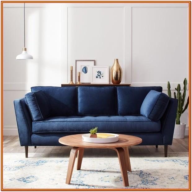 Living Room Navy Blue Couch Set