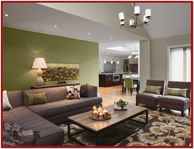 Living Room Olive Green Wall Paint