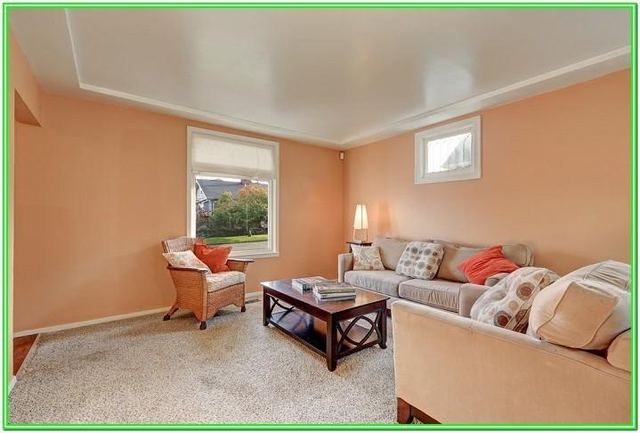 Living Room Peach Paint Color Combination