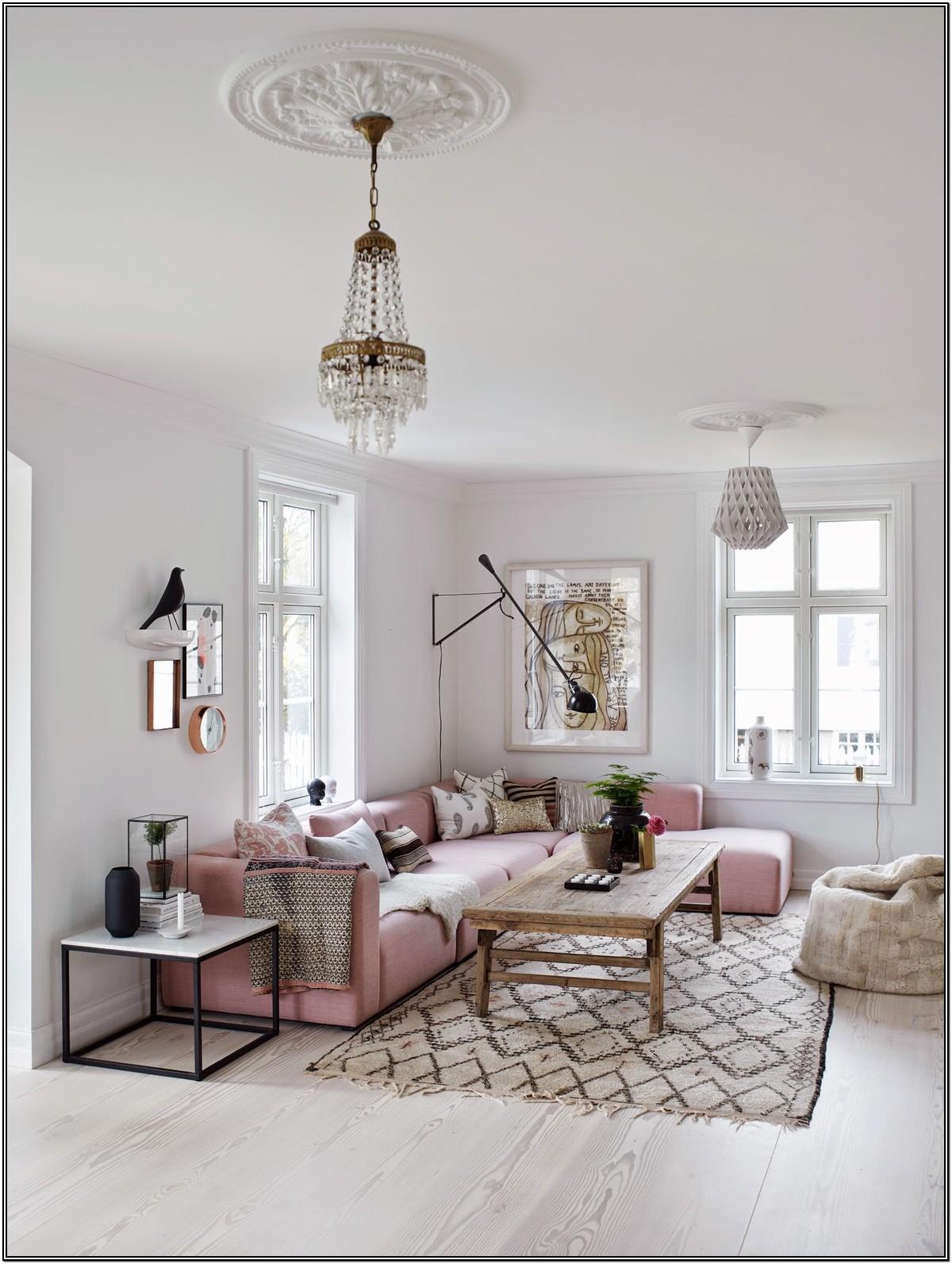 Living Room Rose Gold Furniture