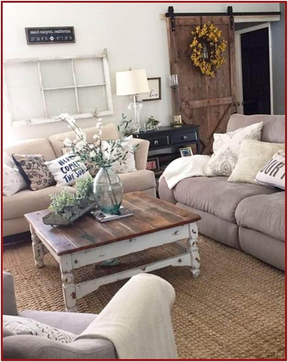Living Room Rustic Farmhouse Style Living Room Country Decorating Ideas