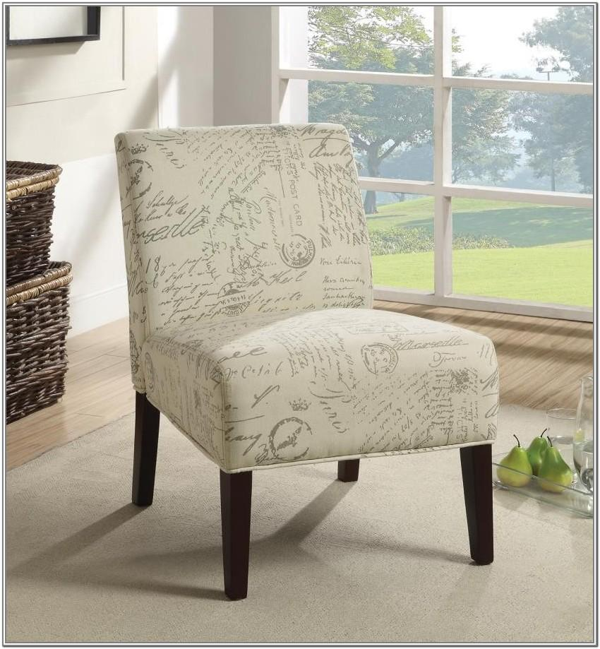 Living Room White Accent Chair