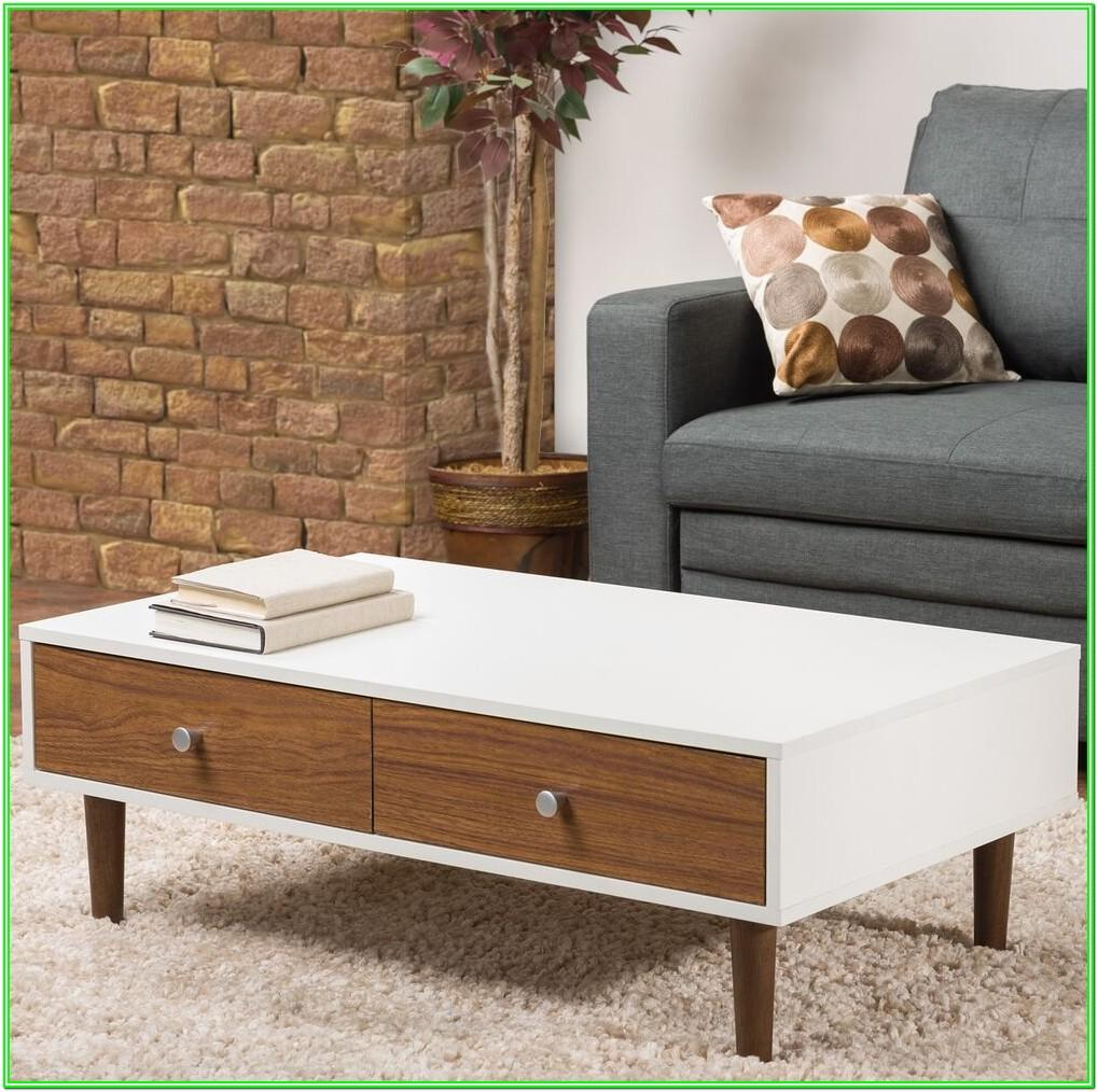 Living Room White Coffee Table With Storage