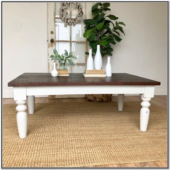 Living Room White Farmhouse Coffee Table