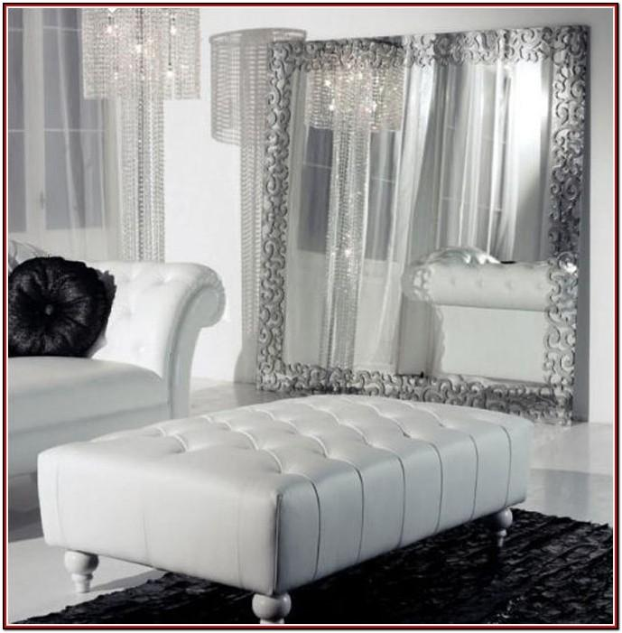 Living Room White Leather Couch Decor