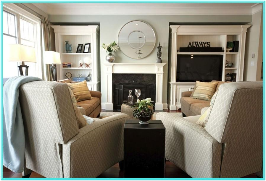 Living Room With Couch And Two Recliners
