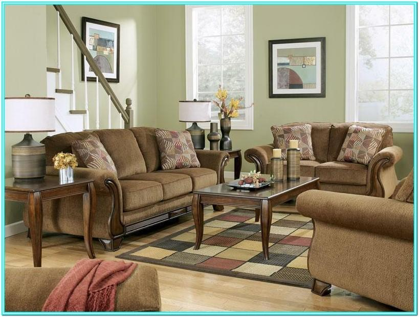 Living Room With Couch Loveseat And Chair