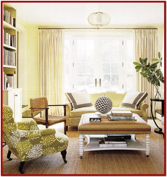 Living Room Yellow Green Wall Paint